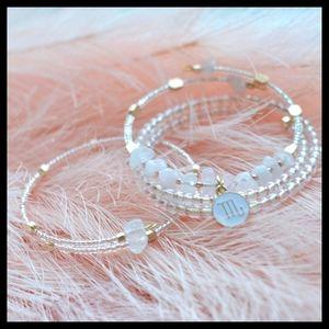 Rose Quartz Zodiac / Astrology Charm Bracelet Gold